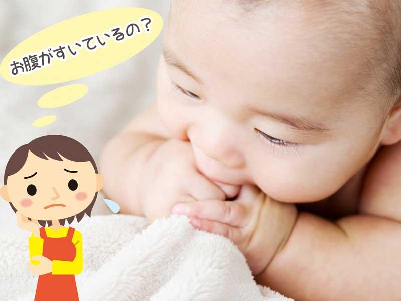 拳をしゃぶる赤ちゃん
