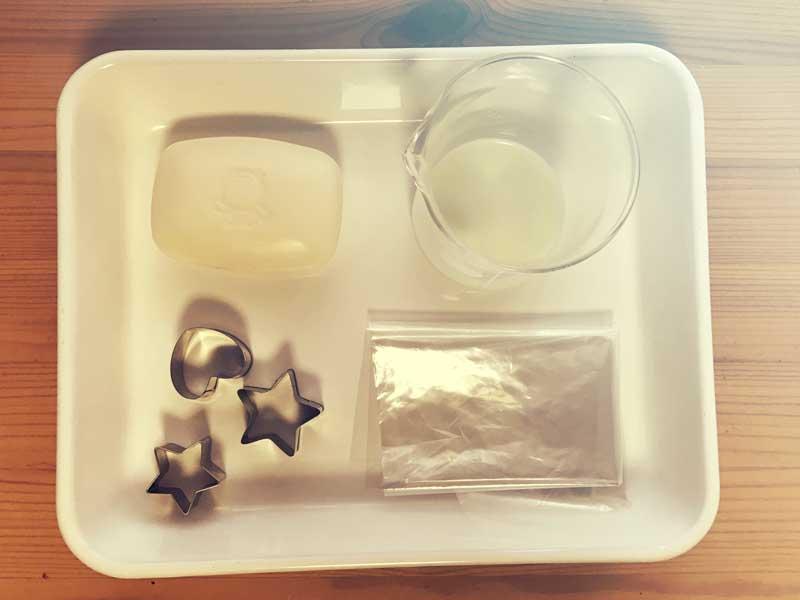 母乳石鹸作りの材料