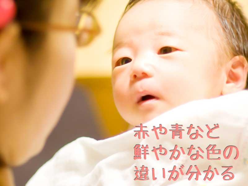 ママを見つめる赤ちゃん
