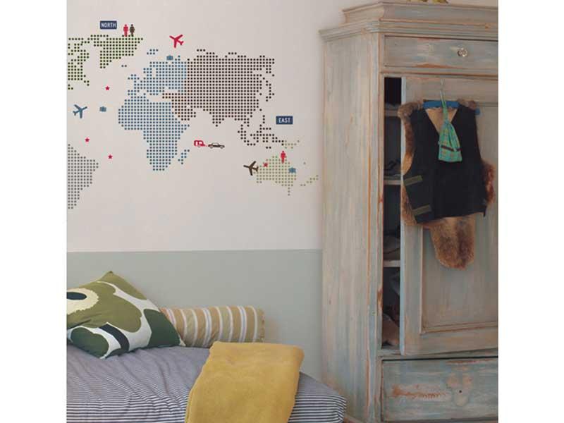 ウォールステッカーのKid's LAB World Map