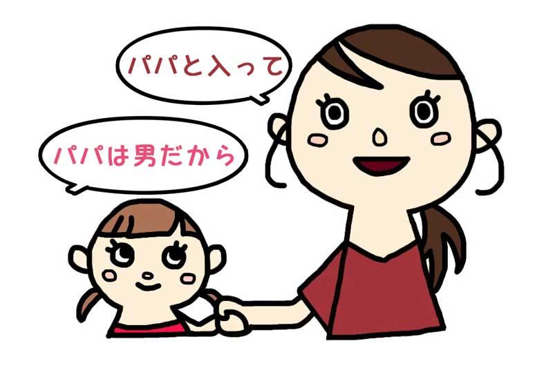 お母さんと女の子のイラスト
