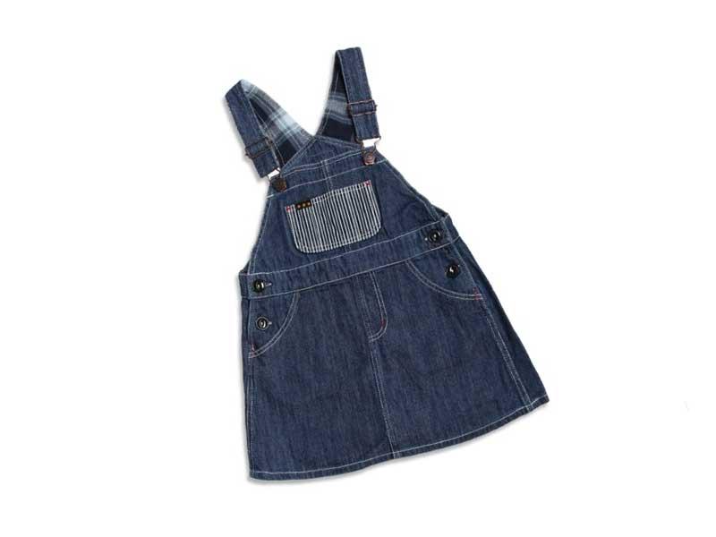 2柄オーバーオールスカート