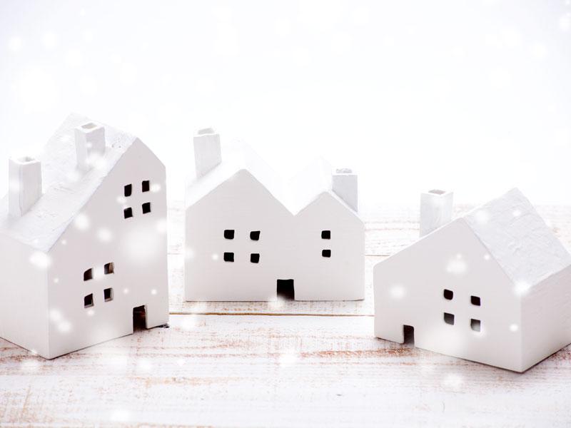 冬の街の住宅のイメージ