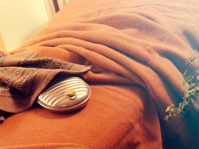 湯たんぽと毛布