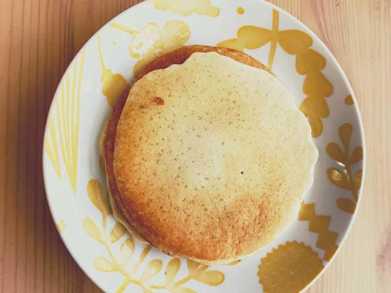 米粉の甘酒のホットケーキ