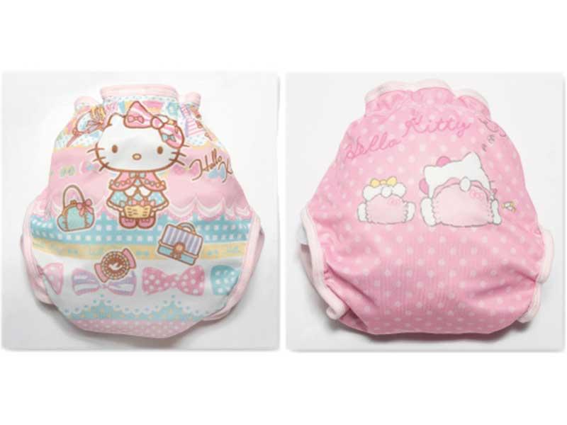 ハローキティ新生児からおむつはずれまでワンサイズ布おむつカバー