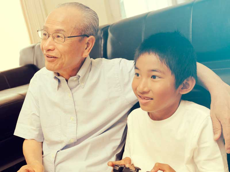 おじいちゃんと孫