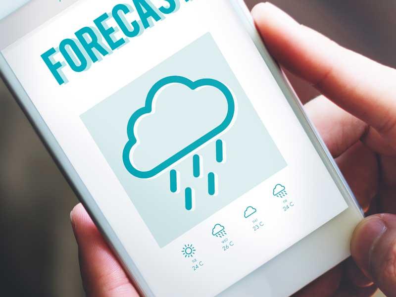携帯の天気予報