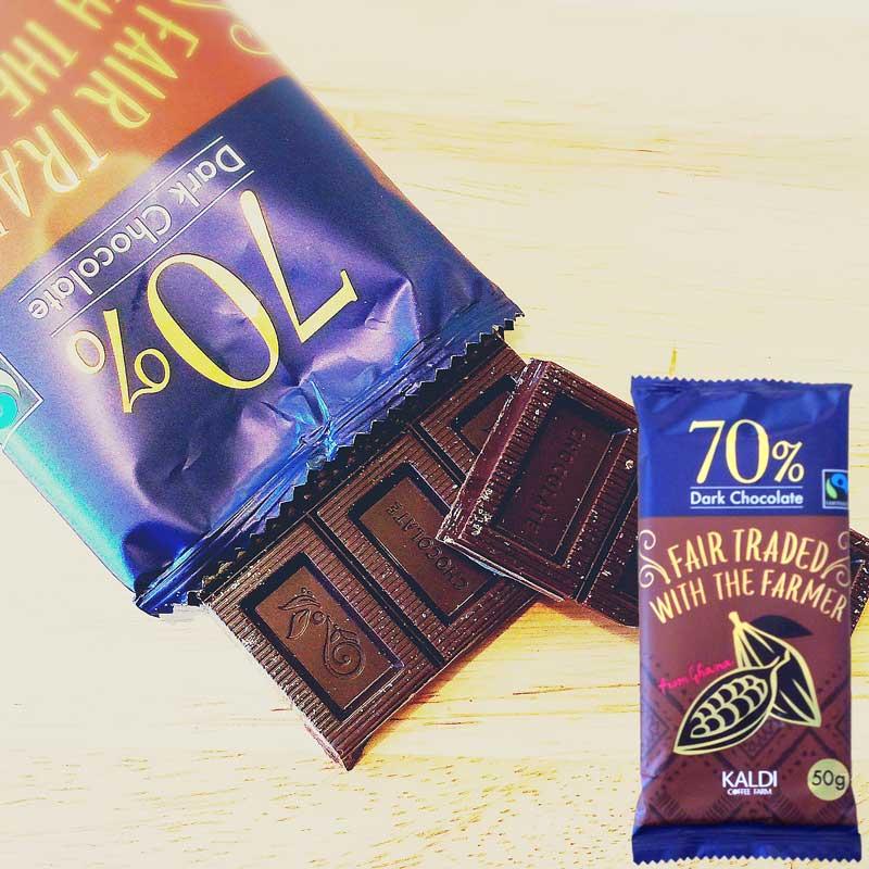カルディオリジナルフェアトレードチョコレートダーク70%