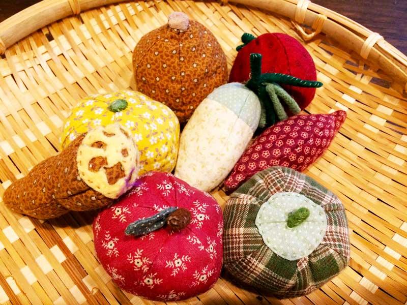 野菜果物の布おもちゃ