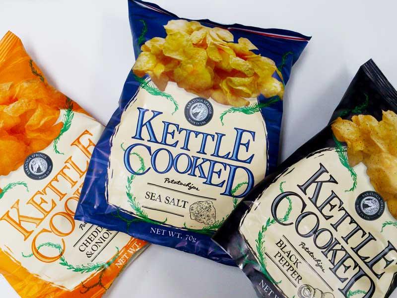 ケトルクックチップスの3種類のパッケージ