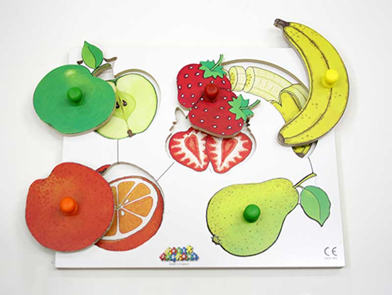 ノブつきパズル果物