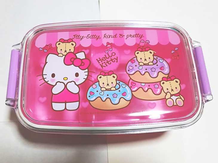 ピンクのキティちゃんお弁当箱