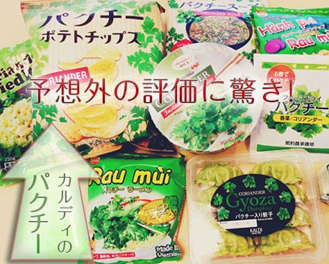 カルディのパクチー商品比較~10種類中おすすめNo1はコレ!