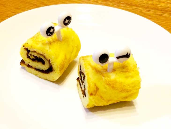 カタツムリの形の卵焼き