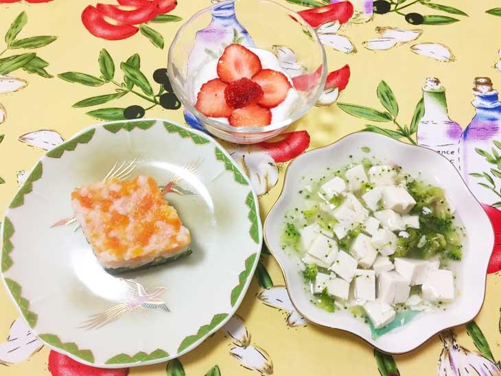 離乳食中期のひな祭りレシピ完成品