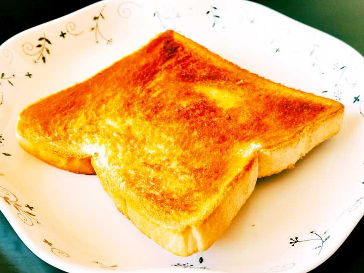 カリカリのシュガーバタートースト