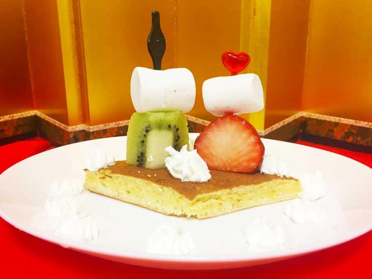 親王飾りホットケーキ