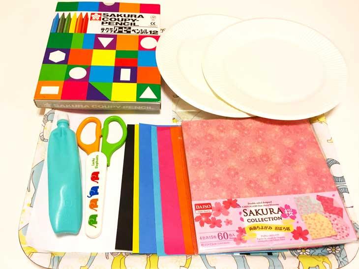 紙皿の手作りお雛様の材料