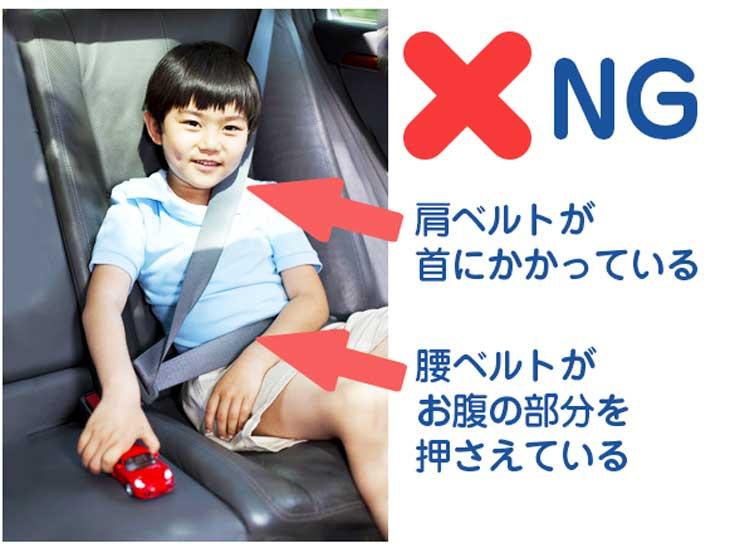 子供のシートベルトのつけ方