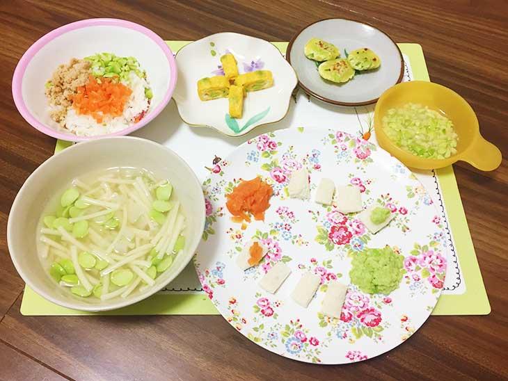 枝豆を使った色々な離乳食