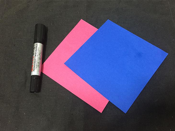 簡単なこいのぼりの材料の写真