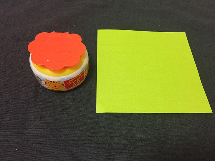 折り紙の吹き流しの材料の写真