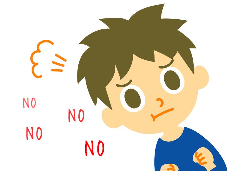 怒る男の子イラスト