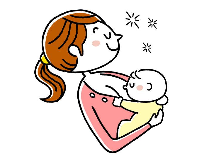 赤ちゃんに母乳を飲ませるイラスト