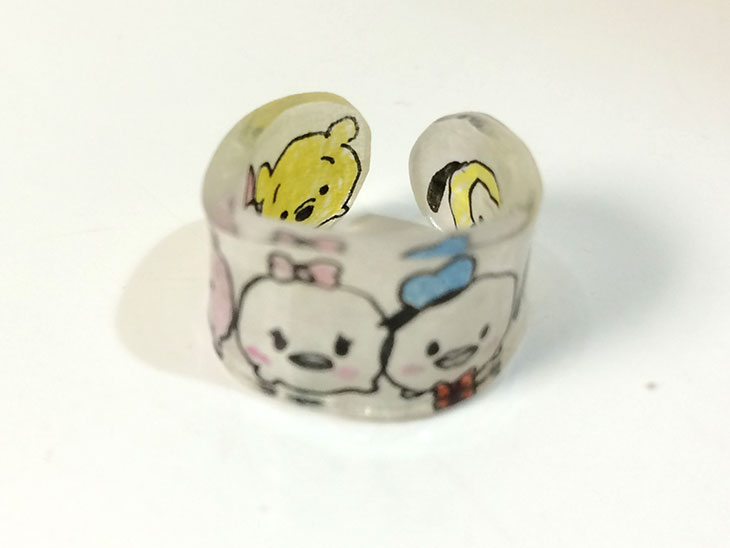 子供が作ったプラバンの指輪