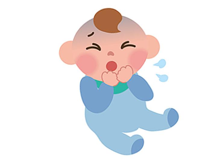 咳をする赤ちゃんイラスト