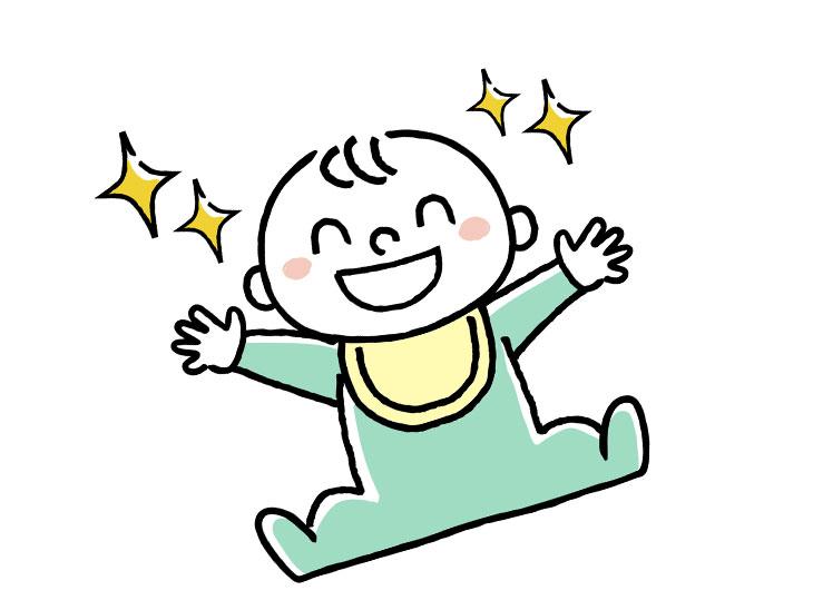 元気な赤ちゃんイラスト
