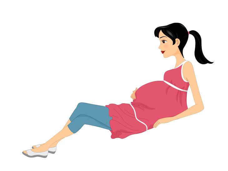 妊娠中の女性運動イラスト