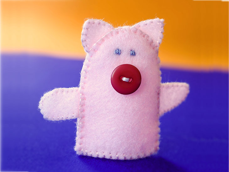 豚の指人形