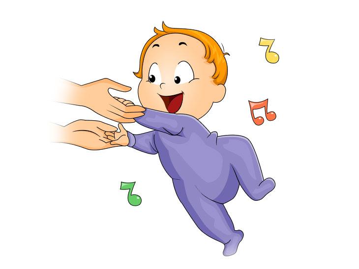 踊る赤ちゃんのイラスト