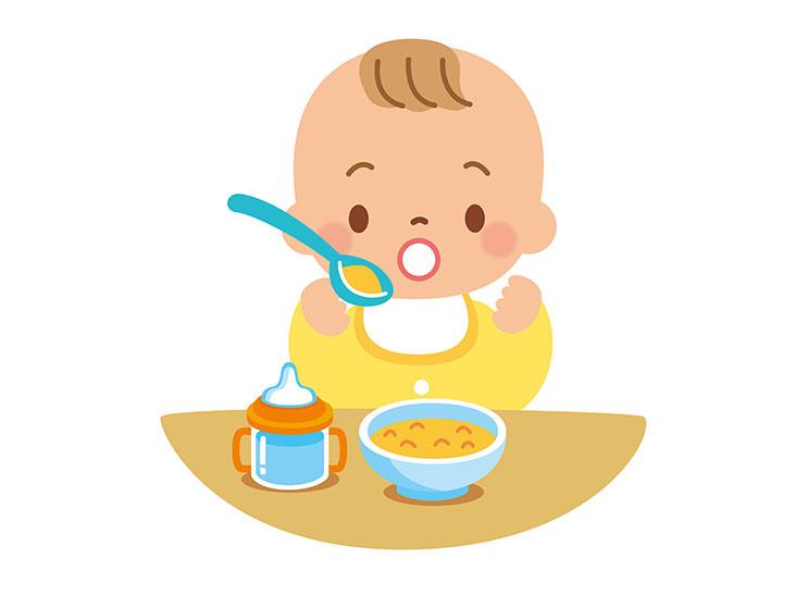 離乳食初期イラスト
