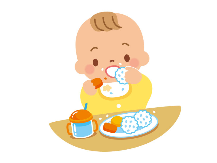 離乳食中期イラスト