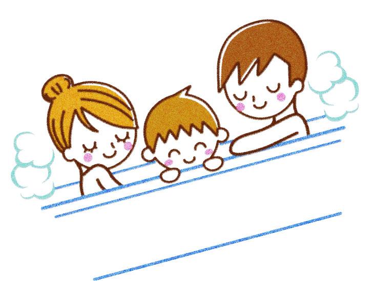 家族でお風呂イラスト