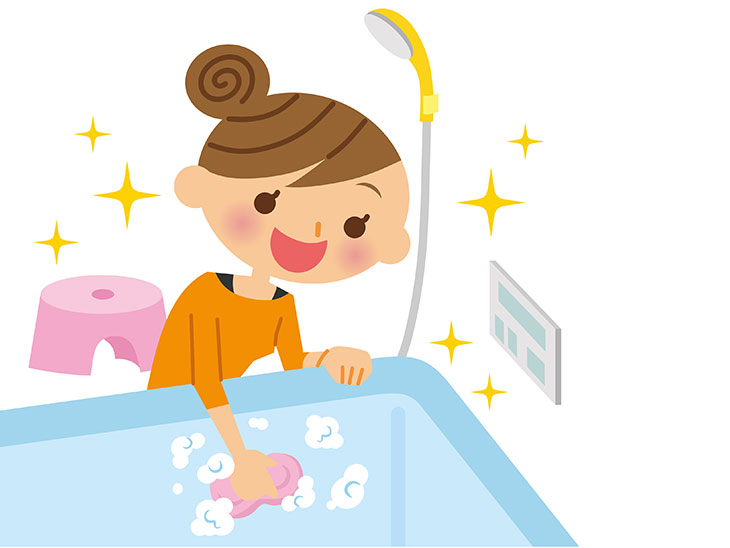 お風呂掃除イラスト
