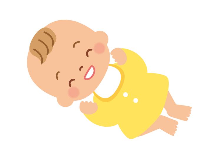 笑う赤ちゃんイラスト