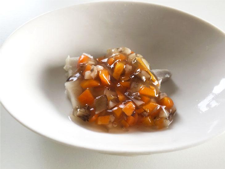 後期離乳食の里芋の舞茸あんかけの完成品