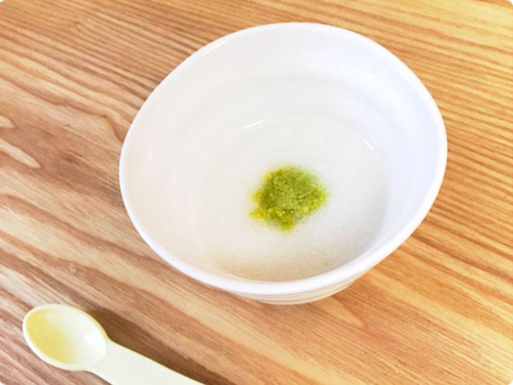 アスパラ粥の完成品