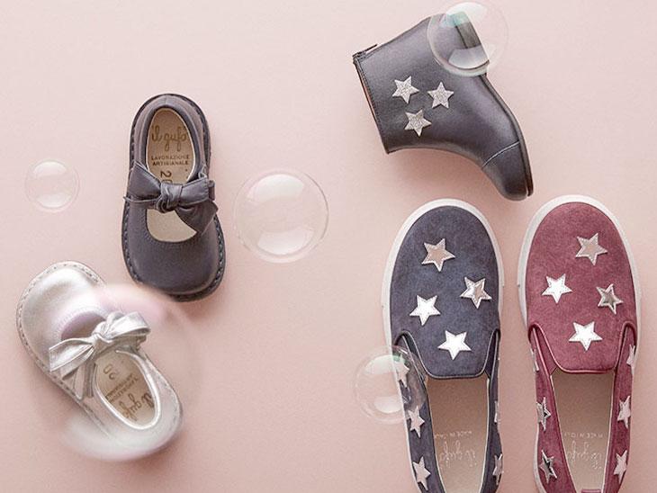 il gufoの子供用と大人用の靴
