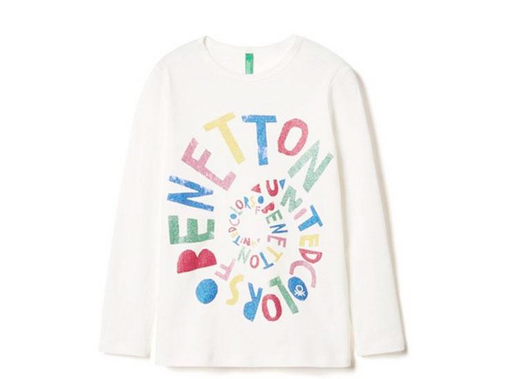 BENETTONの子供用長袖Tシャツ