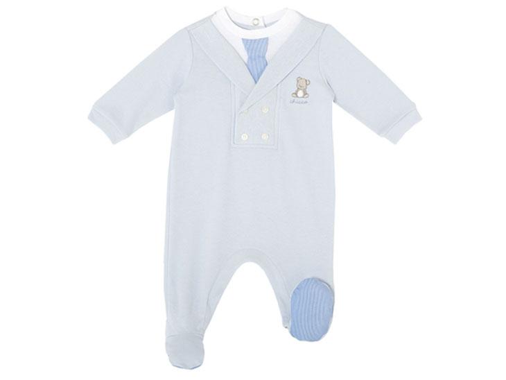 Chiccoの青いスーツのベビー服