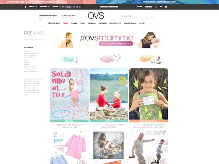 「オヴィエッセ」公式サイトのキャプチャ