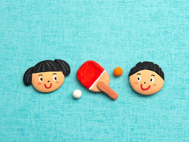 子供と卓球のイメージ