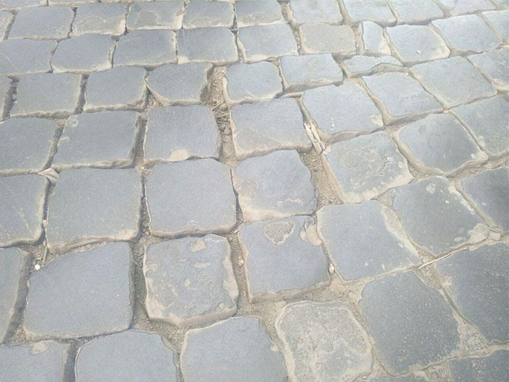 イタリアの石畳の写真