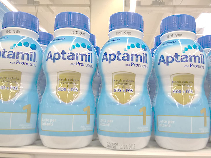 Aptamilの液体ミルク