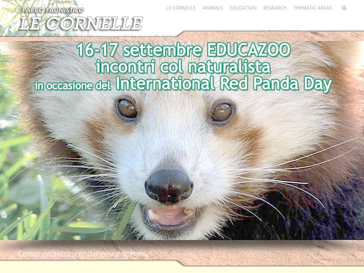 パルコ ファウニスティコ レ コルネッレ動物園サイトのキャプチャ